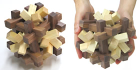 Reza 6-8 - Polyhedral shape interlocking burr puzzle<br> Juno's Spinner